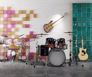 Bộ dụng cụ âm nhạc file 3D