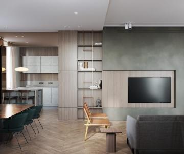 Phong cách thiết kế mới trong căn hộ đẹp