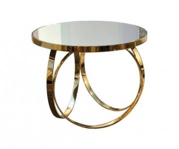 Bàn Trà Chân Inox mạ vàng đồng mặt đá marble