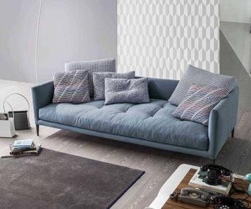 Sofa Cora Bọc Vải Chân Gỗ Hiện Đại